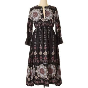 NWT Kate Kasin Boho Festival Paisley Midi Dress